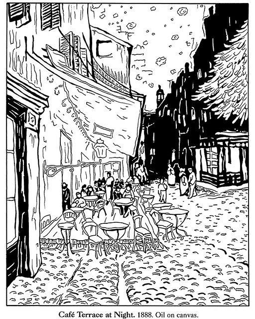 Terraza Del Cafe Por La Noche Van Gogh Pinturas De Van