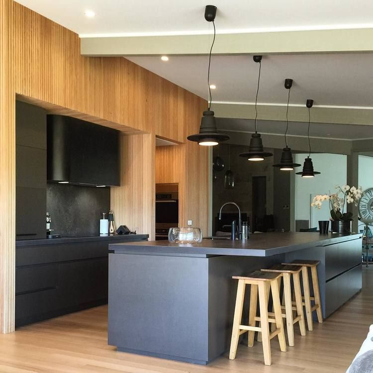 Black Zinc Sheet Metal Range Hood Modern Kitchen Kitchen Design Internal Doors Modern