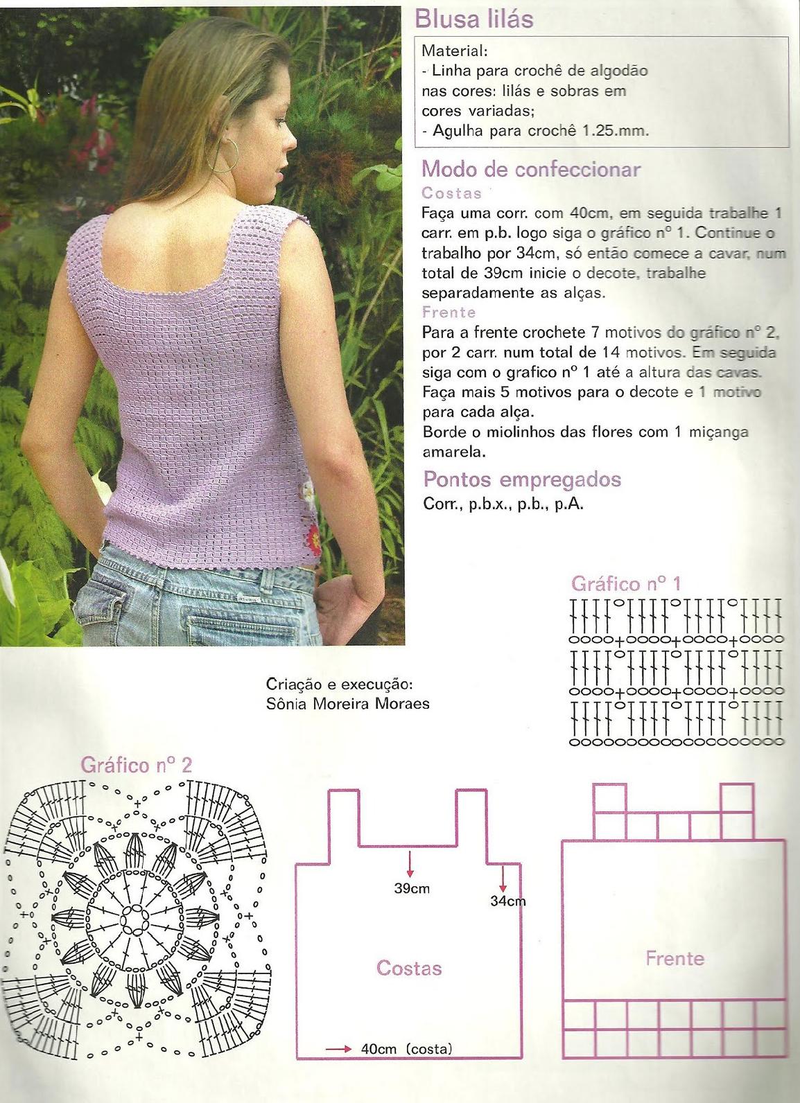 2 Tops de crochet para verano - Patrones Crochet | ( 1 ) Szydełkowe ...