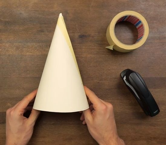 comment realiser un cone en carton
