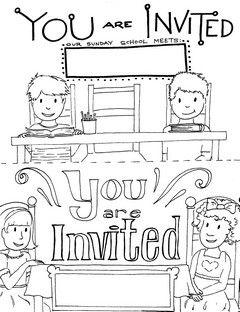 Printable sunday school invitations templates kids coloring printable sunday school invitations templates stopboris Images