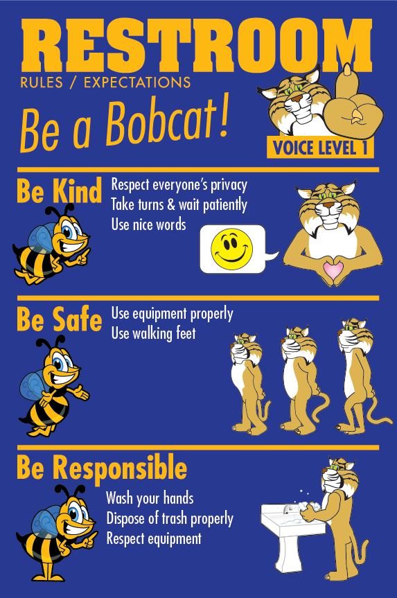 School Bathroom Rules Poster - Bathroom Design Ideas