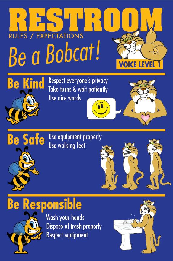 School Bathroom Rules bathroom restroom rules poster school pbis   pbis ideas