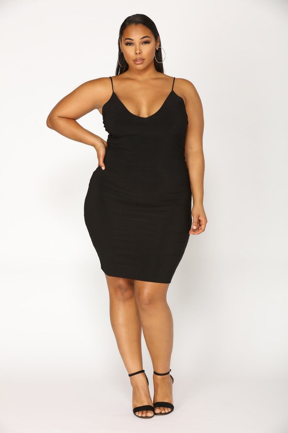 dacd4a8344c2 Plus Size Simple Kind Of Life Dress - Black $29.99 #fashion #ootd #outfit