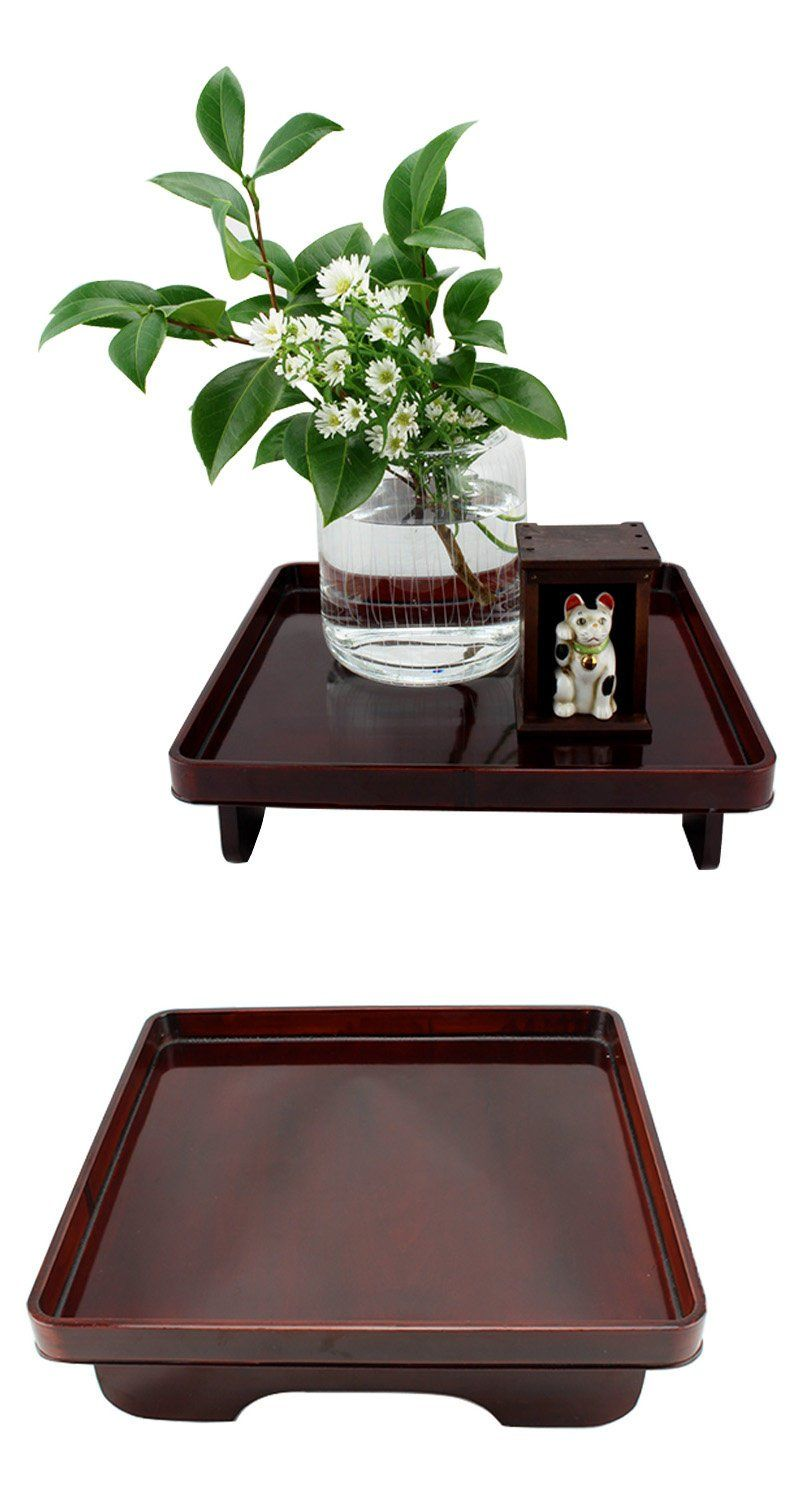 A Gorgeous Vintage Japanese Square Tray On Legs It Is Made Of Bamboo And Lacquer Lacquertray Japanesetra Wooden Serving Trays Asian Decor Serving Tray Wood