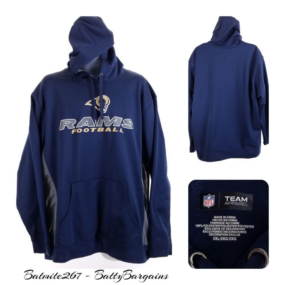 Los Angeles Rams Football 2xl Hoodie Sweatshirt Nfl Navy Blue La Adult Men S Nfl Losan Sweatshirts Nfl Team Apparel Hoodies