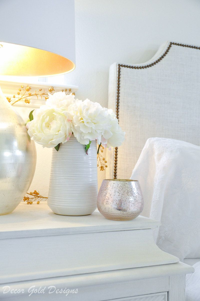 Simple Spring Decorating Tips  Nightstand decor, Spring decor