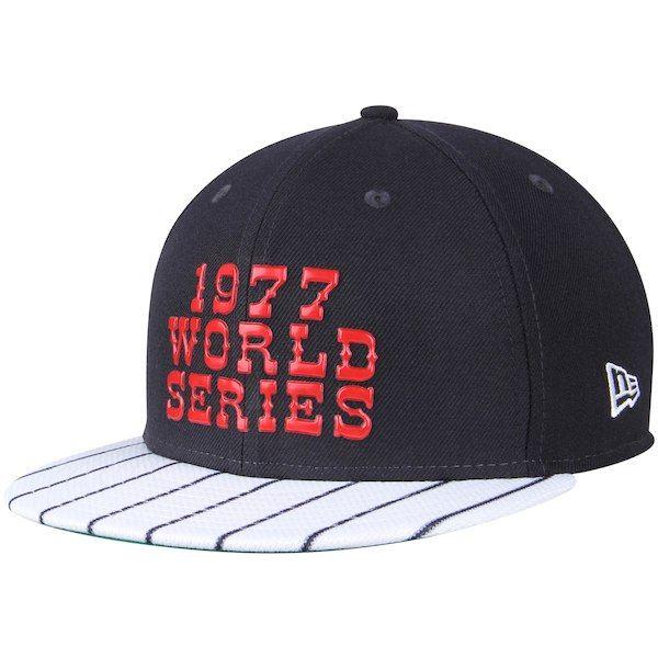 4ee66f526de Men s New York Yankees New Era Navy 1977 Championship Collection 9FIFTY  Snapback Adjustable Hat