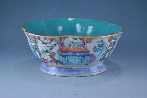 Antique Chinese Famille Rose Porcelain Bowl Plum Blossom Shape Marked | eBay
