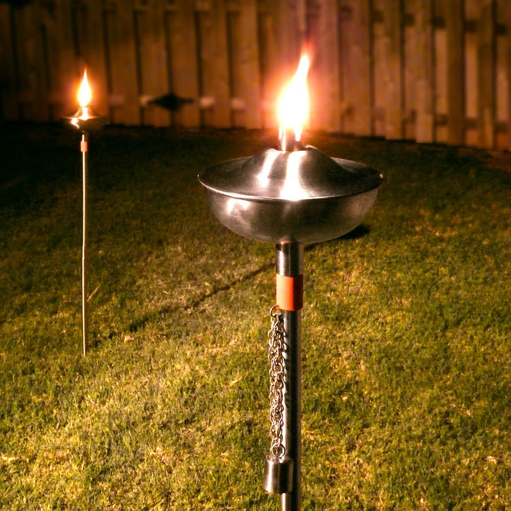 Perfect Kalapana Stainless Steel Garden Torches (Set Of 2)