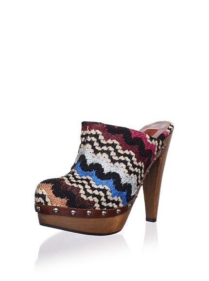 MISSONI Women's Studded Wood Clog at MYHABIT