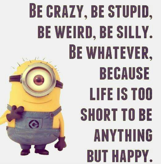 Stupid Minion Quotes: Be Crazy, Be Stupid, Be Weird, Be Silly. Be Whatever