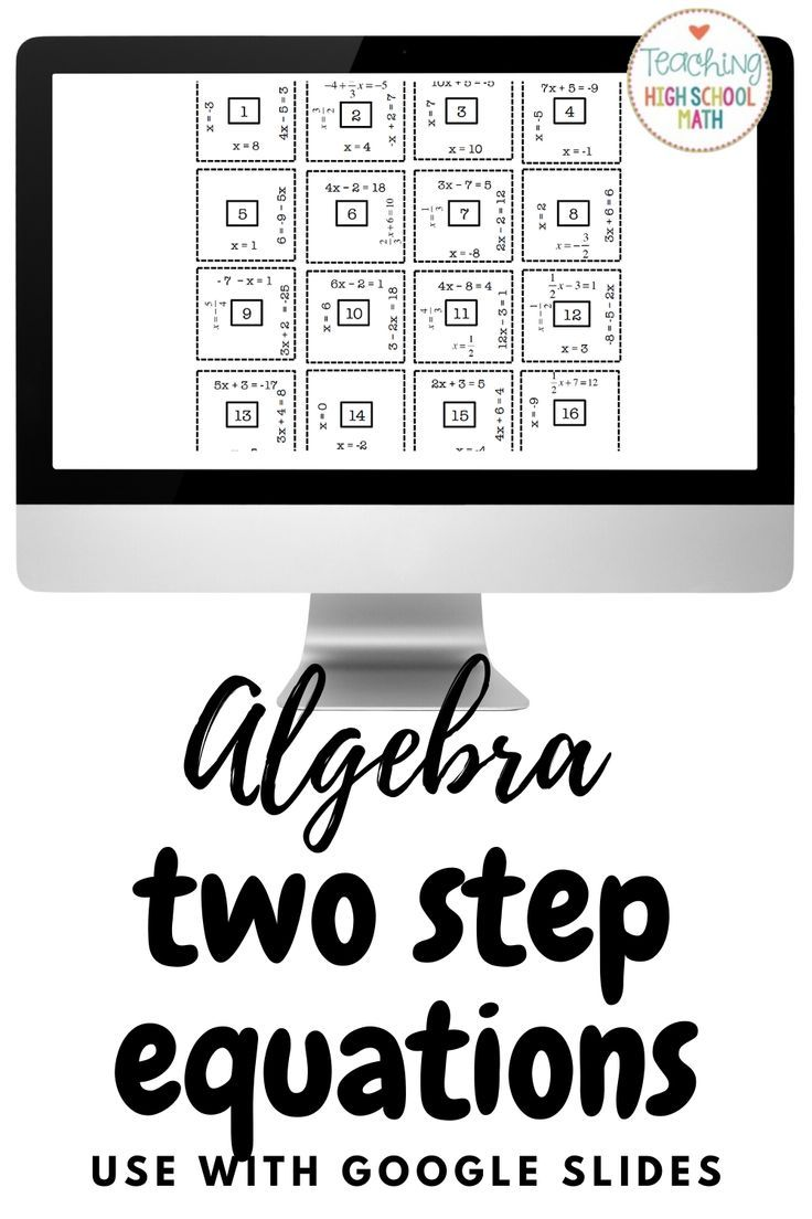 Algebra Solving Two Step Equations in 2020 Two step