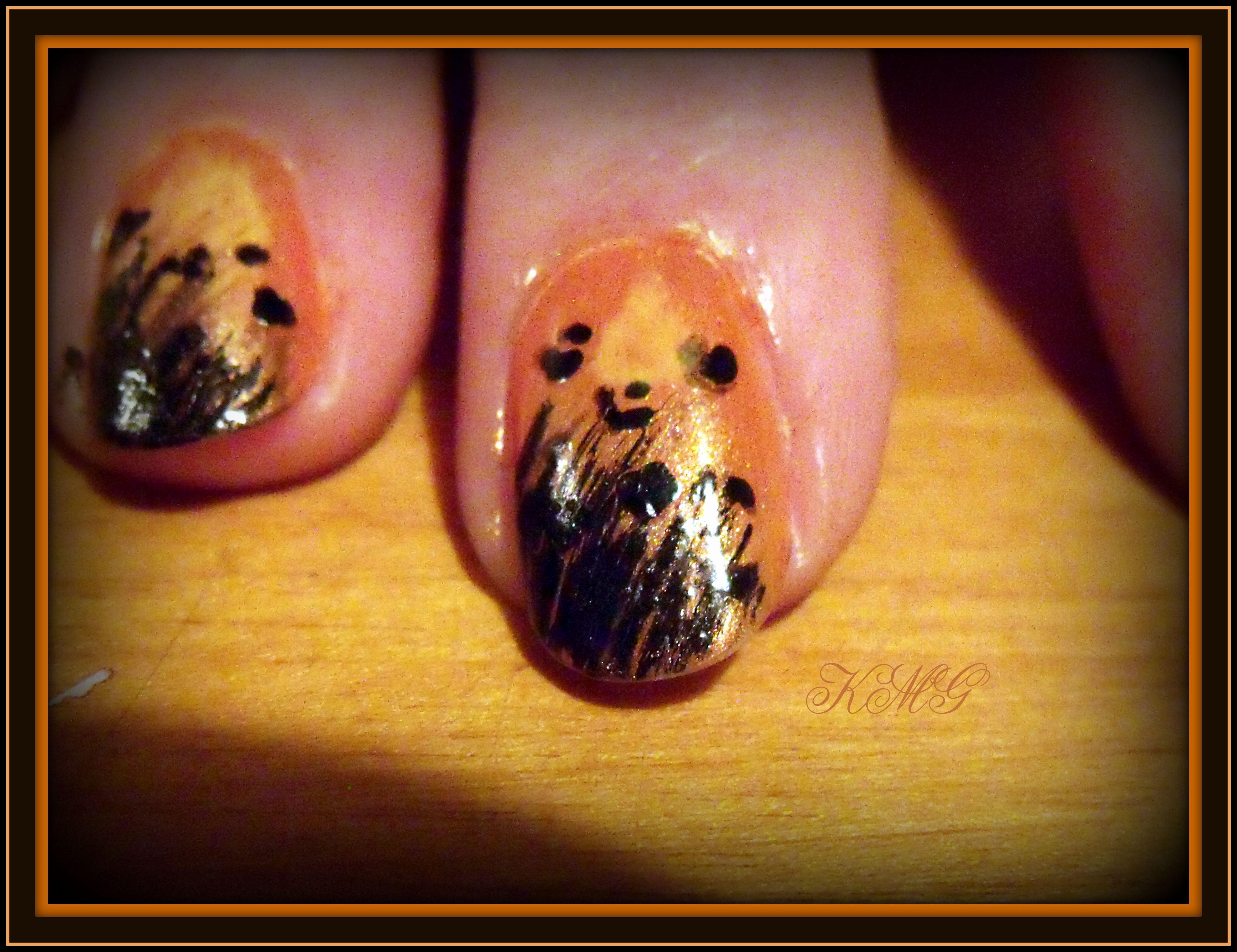 Day 2 Orange Nails Sally Hansen Hard As Nails Mandarin Sally