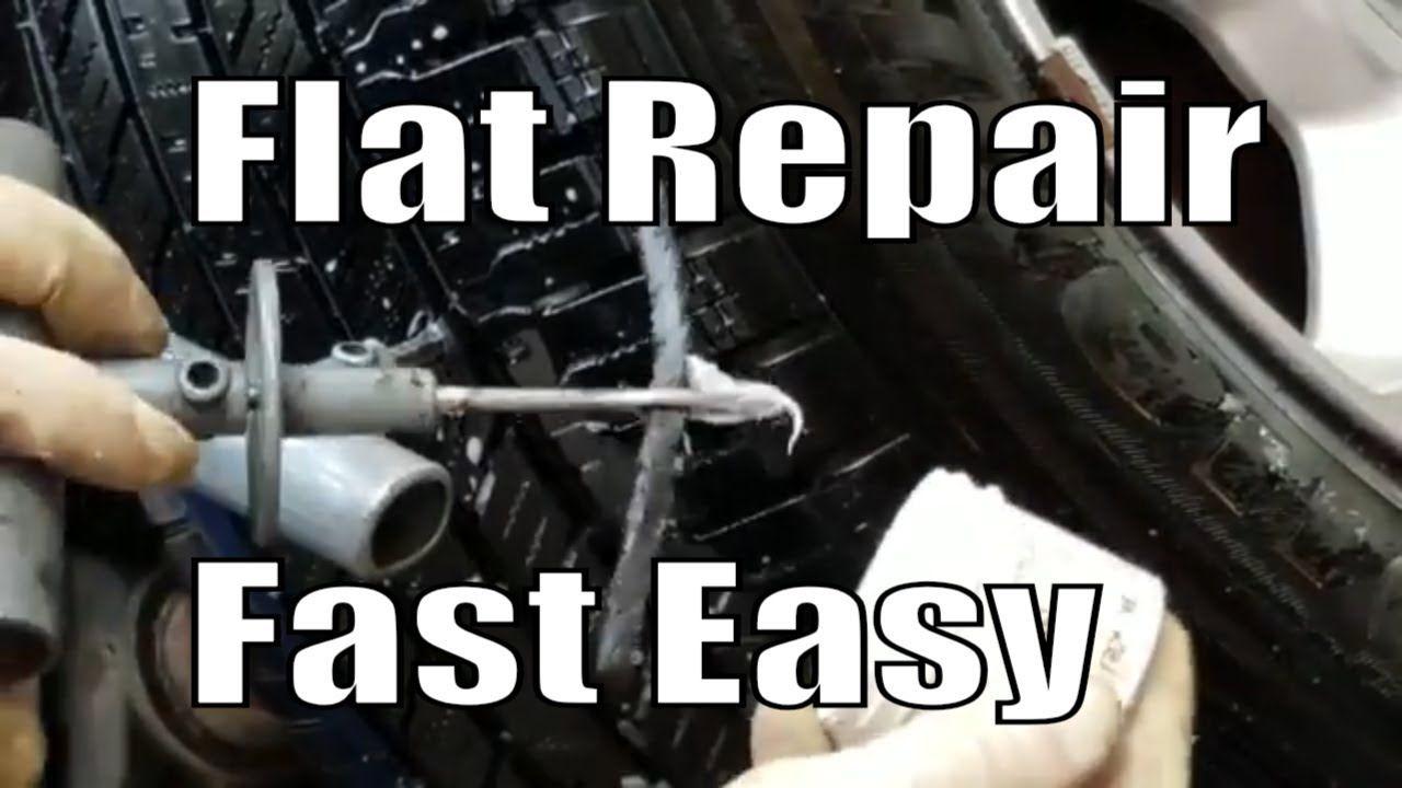 Flat tire repair fast easy diy tire repair repair