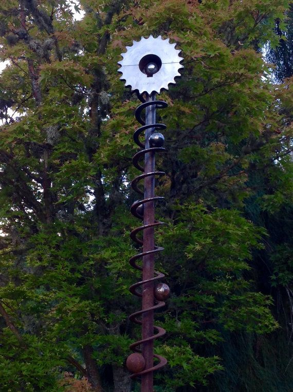 Recycled Metal Garden Sculpture Ascension By Stastnygardenandart
