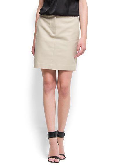 MANGO - Straight-cut cotton skirt £27.99