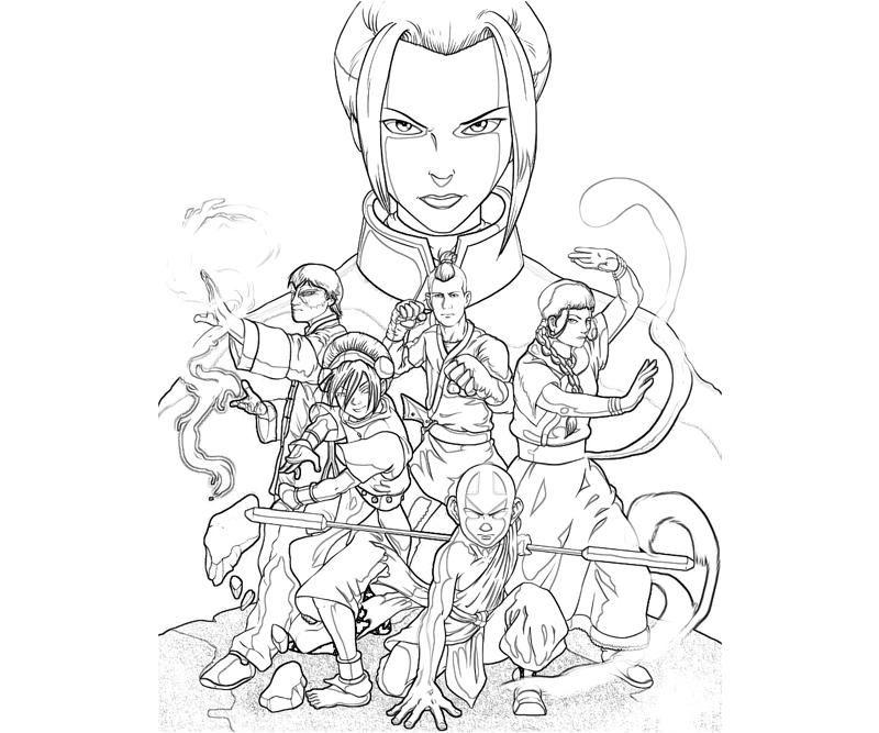Avatar Aang Ability | Yumiko Fujiwara | LineArt: Avatar Last ...