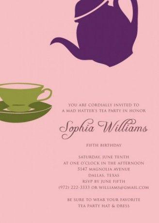 Tea Party Invitation Template  I Love Me Some Free Stationary