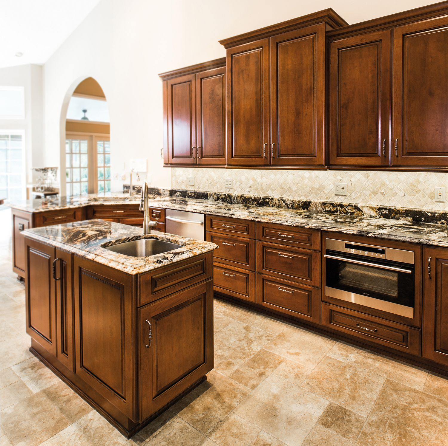 Zeljko designed this traditional kitchen using Cherry wood in a