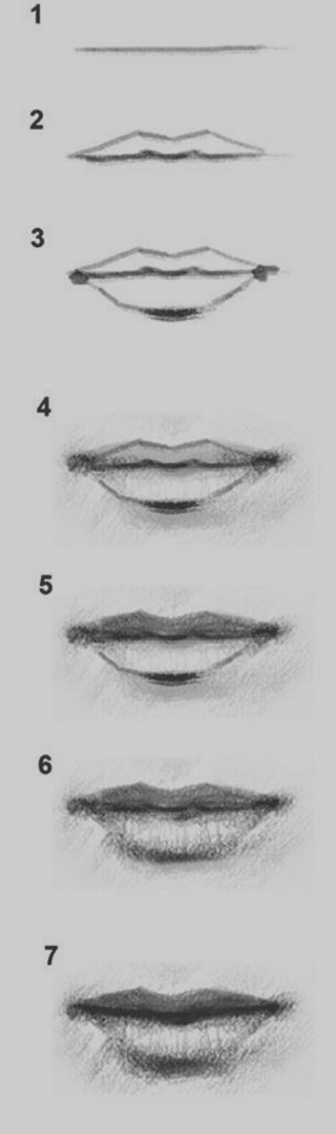 Ideas Of Draw Lips Step By Step 1000 Ideas About Drawing Step On