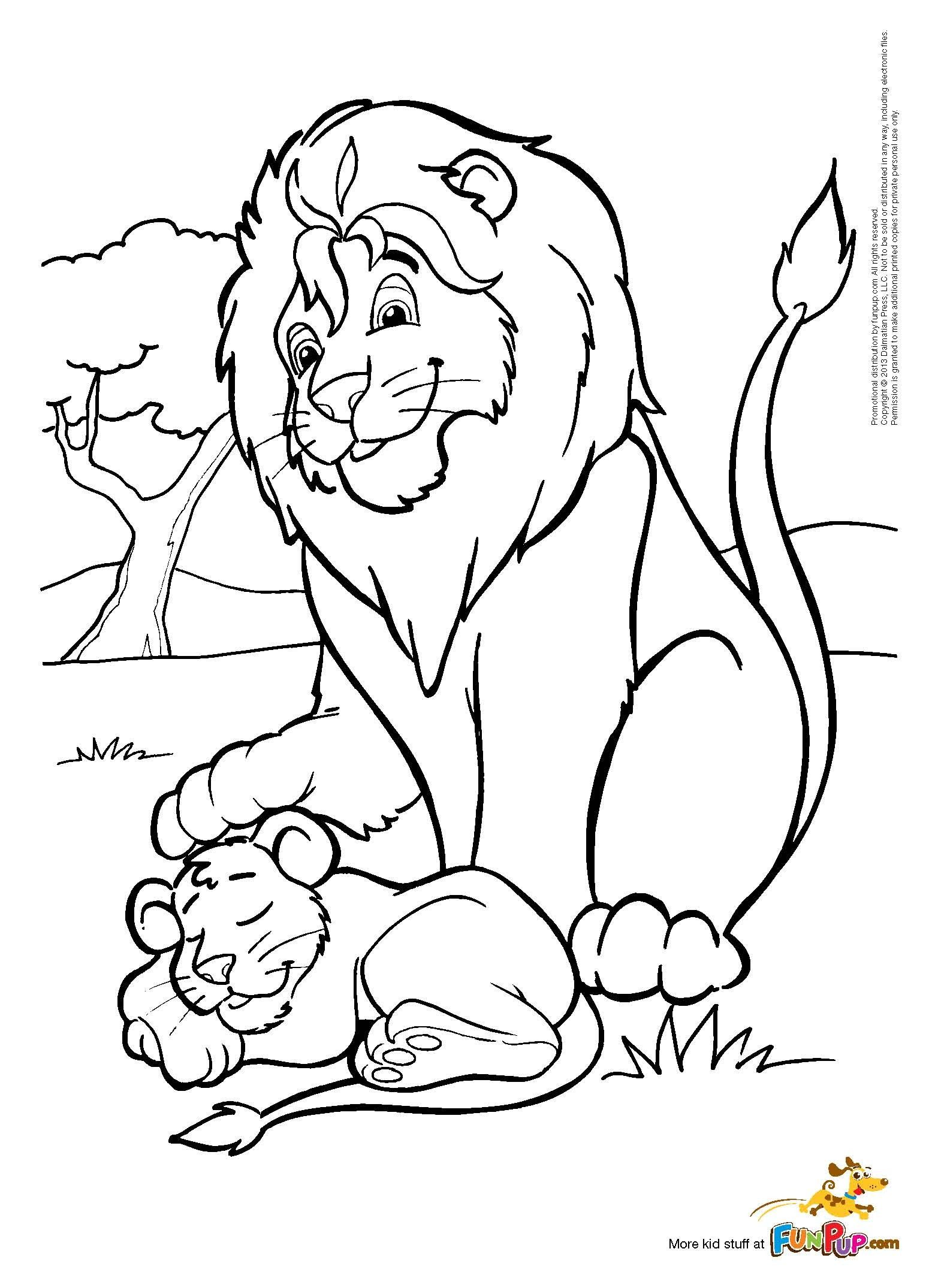 Father & Son Lion $0.00