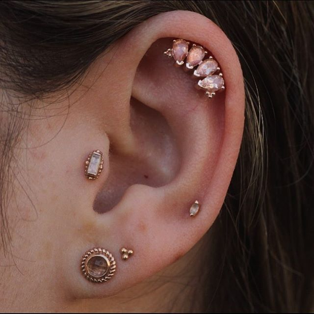 Body Vision Los Angeles On Instagram Rose Gold Peach Tones Thanks Piercings By Alana Rosegoldsf In 2020 Rose Gold Tattoo Heart Piercing Gold Tattoo