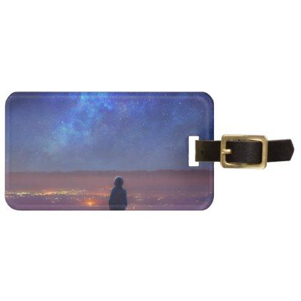 Hike Alone Luggage Tag - light gifts template style unique special - luggage tag template