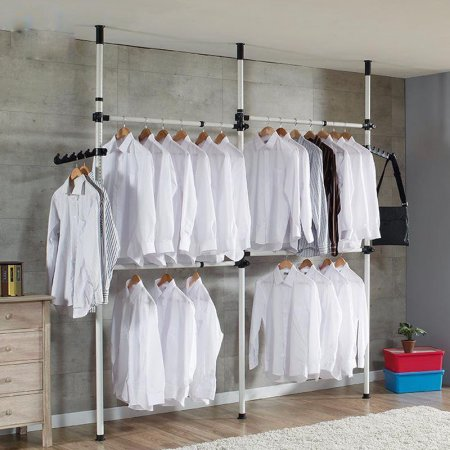 Pull Down Clothes Rail Lift Pull Down Adjustable Width Wardrobe Clothes Hanging Rail Soft Ret Standing Closet Free Standing Closet Free Standing Closet Systems