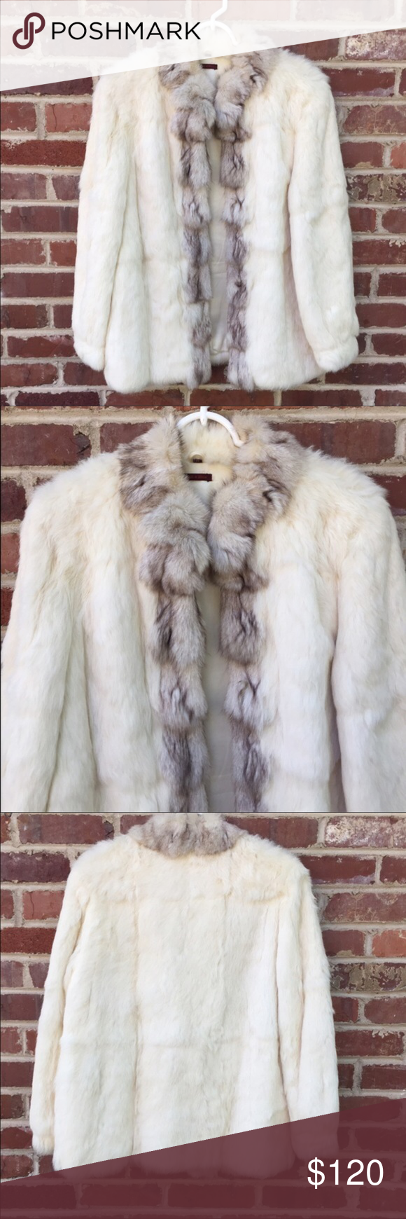 Stunning White Fur Jacket I absolutely love this jacket!  I enthusiastically bought this from another posher but it is too big on me 😢.  Just looking to get my $ back with this sale.  In perfect condition! Jackets & Coats