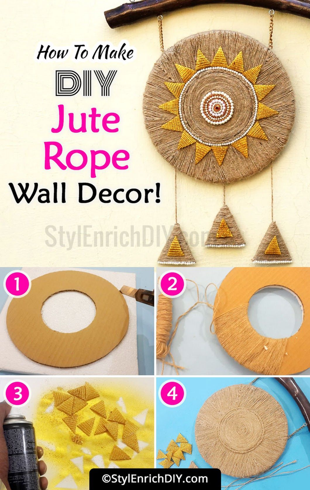Sign In Rope Decor Diy Rope Crafts Hanging Wall Art Diy