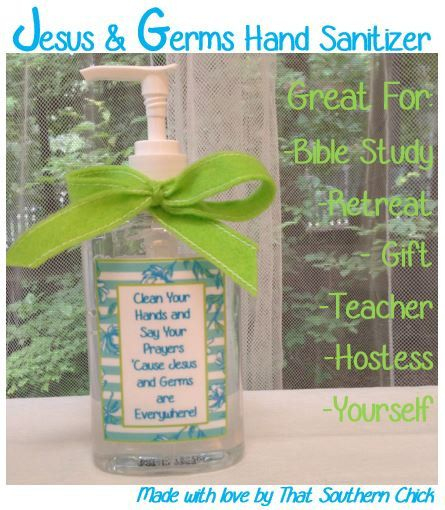 You Will Receive A Pdf File Of 8 Jesus And Germs Hand Sanitizer