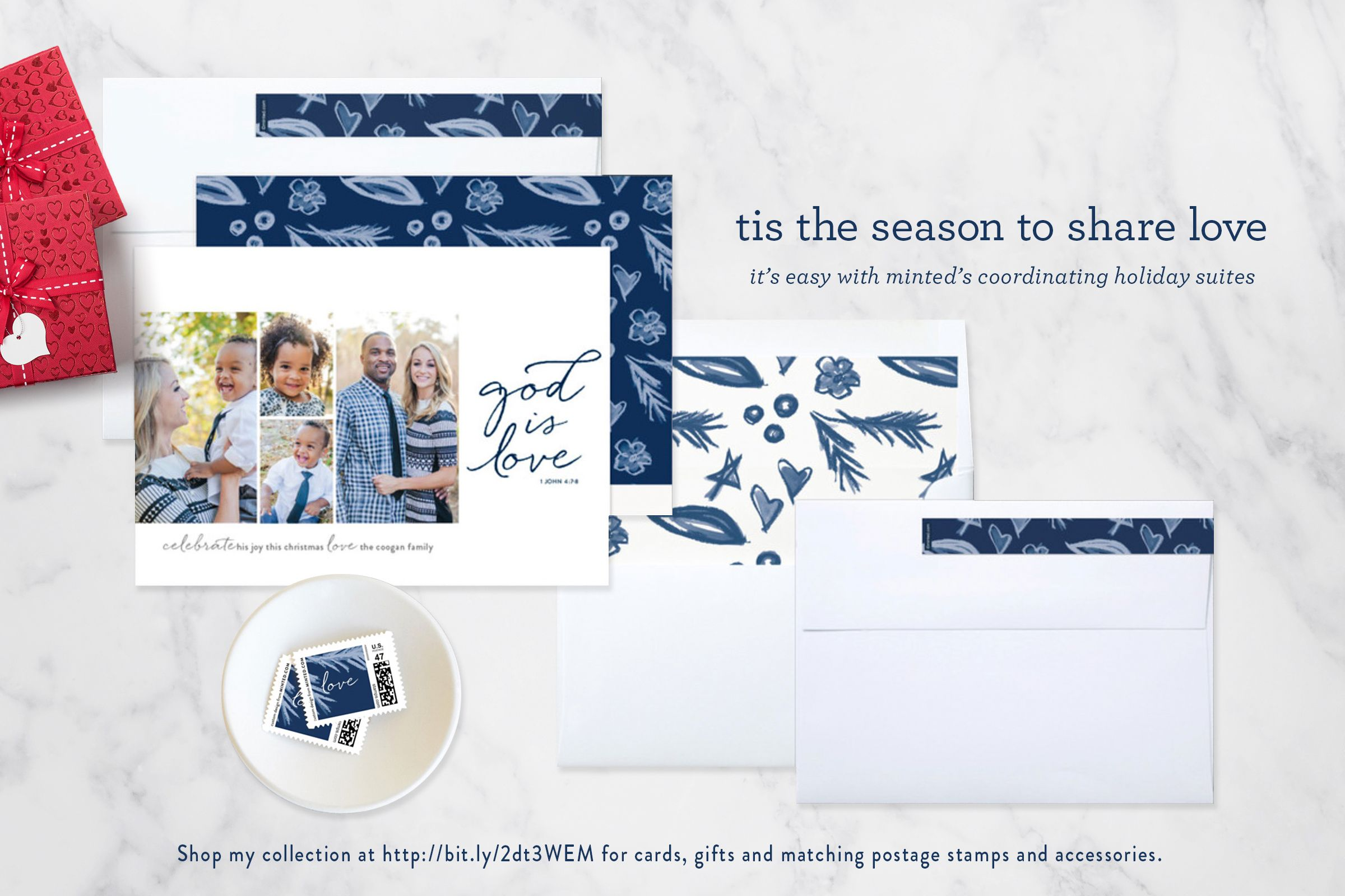 God is Love multi-photo Christmas card by Carol Fazio for minted.com ...