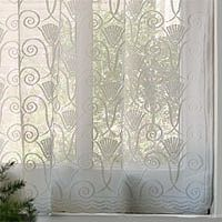 Art Deco Cotton Lace Curtains Vintage Victorian Bradbury