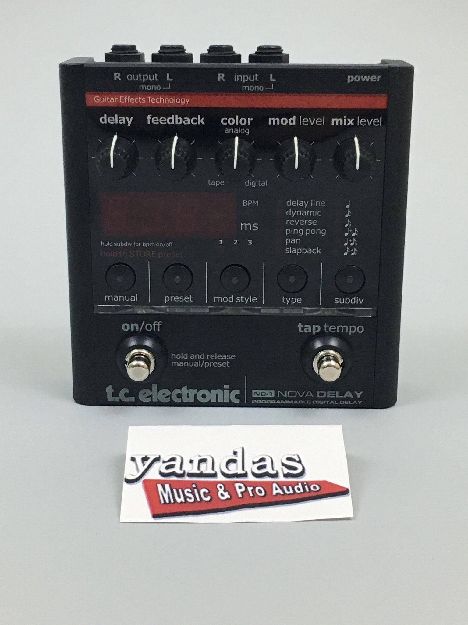 TC Electronic Nova ND-1 Delay Effects Pedal