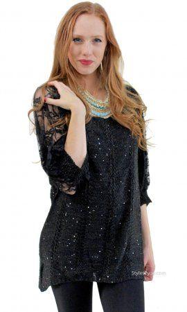 Marjorie Vintage Sweater In Black