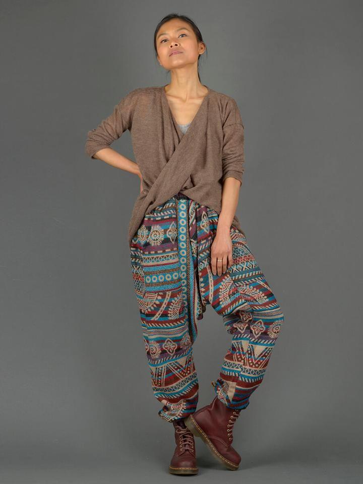 8ea80982f65 Peruvian Print Warm Harem Pants - High Crotch with Pockets - Forgotten  Tribes