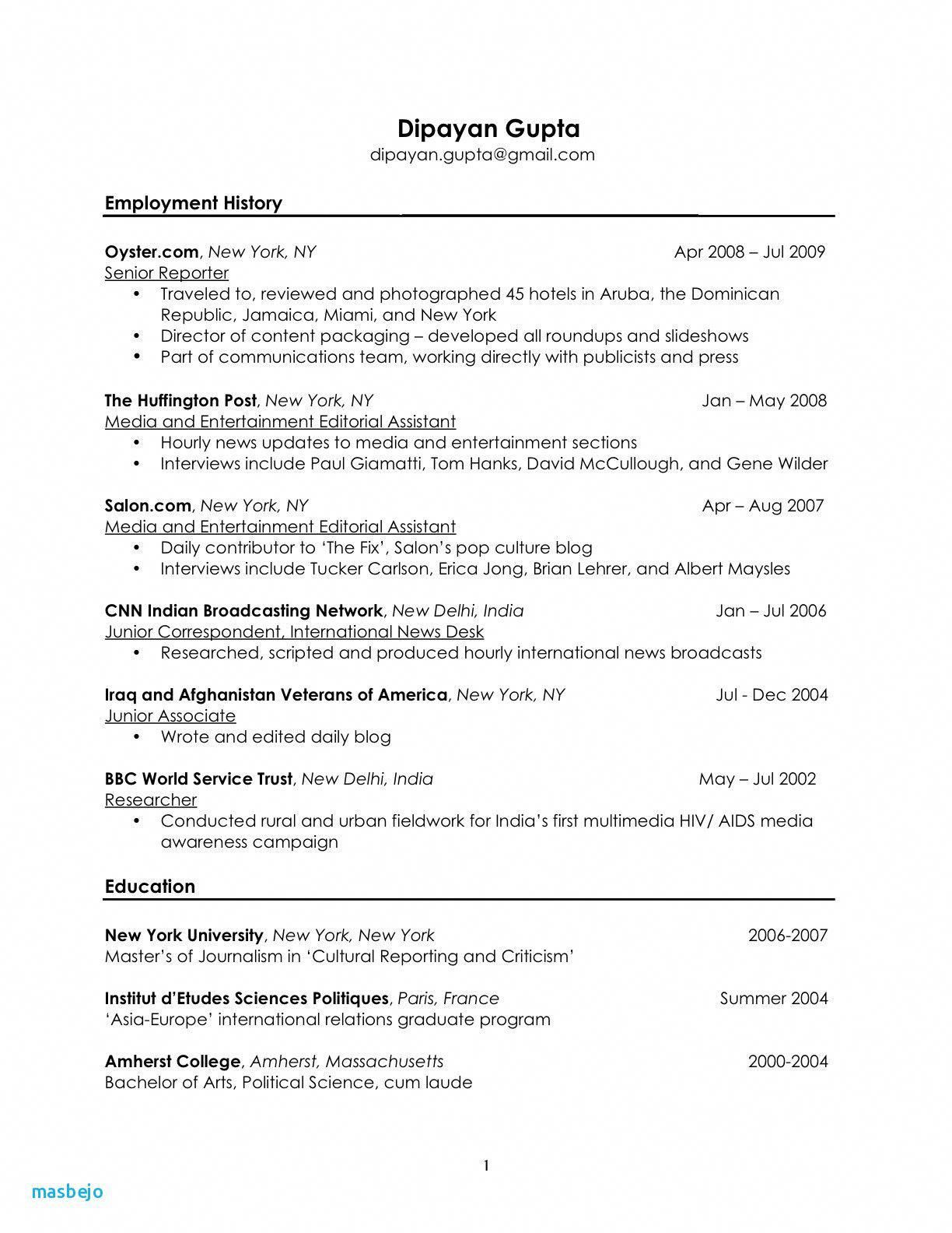 74 Best Of Stock Resume Examples For Waitressing Jobs