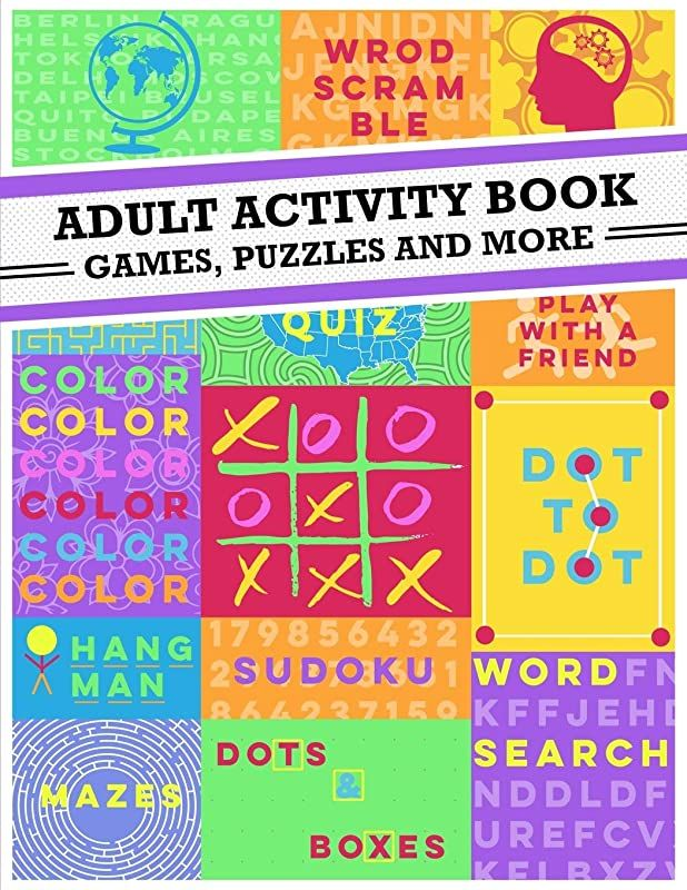 Free Adult Activity Book An Adult Activity Book Featuring
