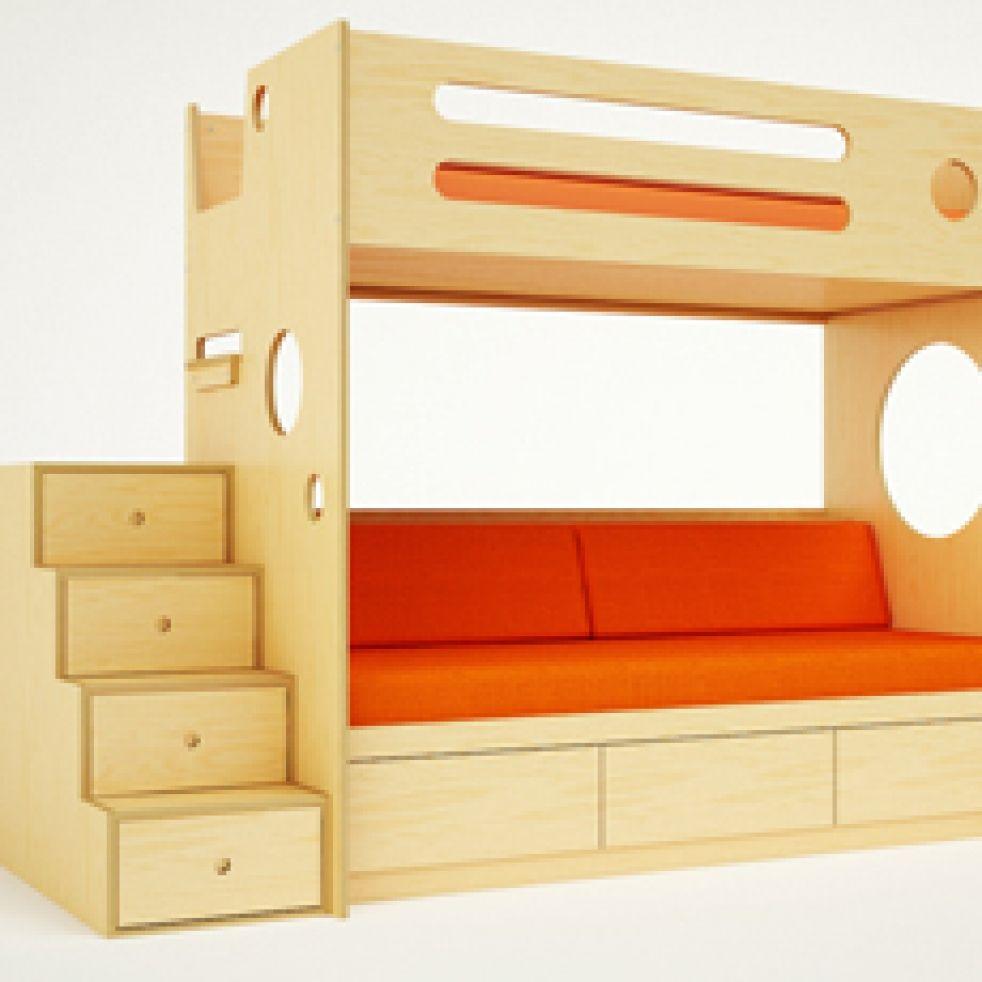 Junior loft bed with stairs  Splurge  Casa Kids Marino Bunk Beds  Bunkbeds  Pinterest  Bunk