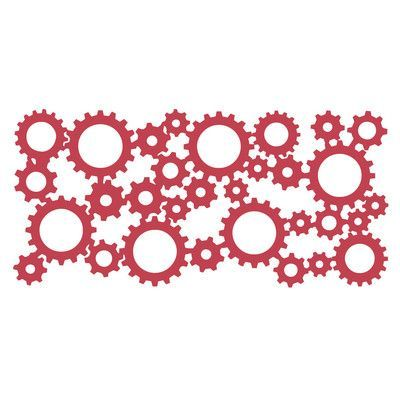 The Decal Guru Industrial Gears Wall Decal
