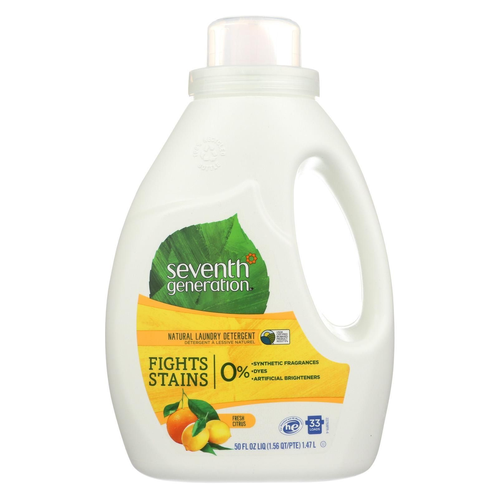 Seventh Generation Natural Laundry Detergent - Fresh ...