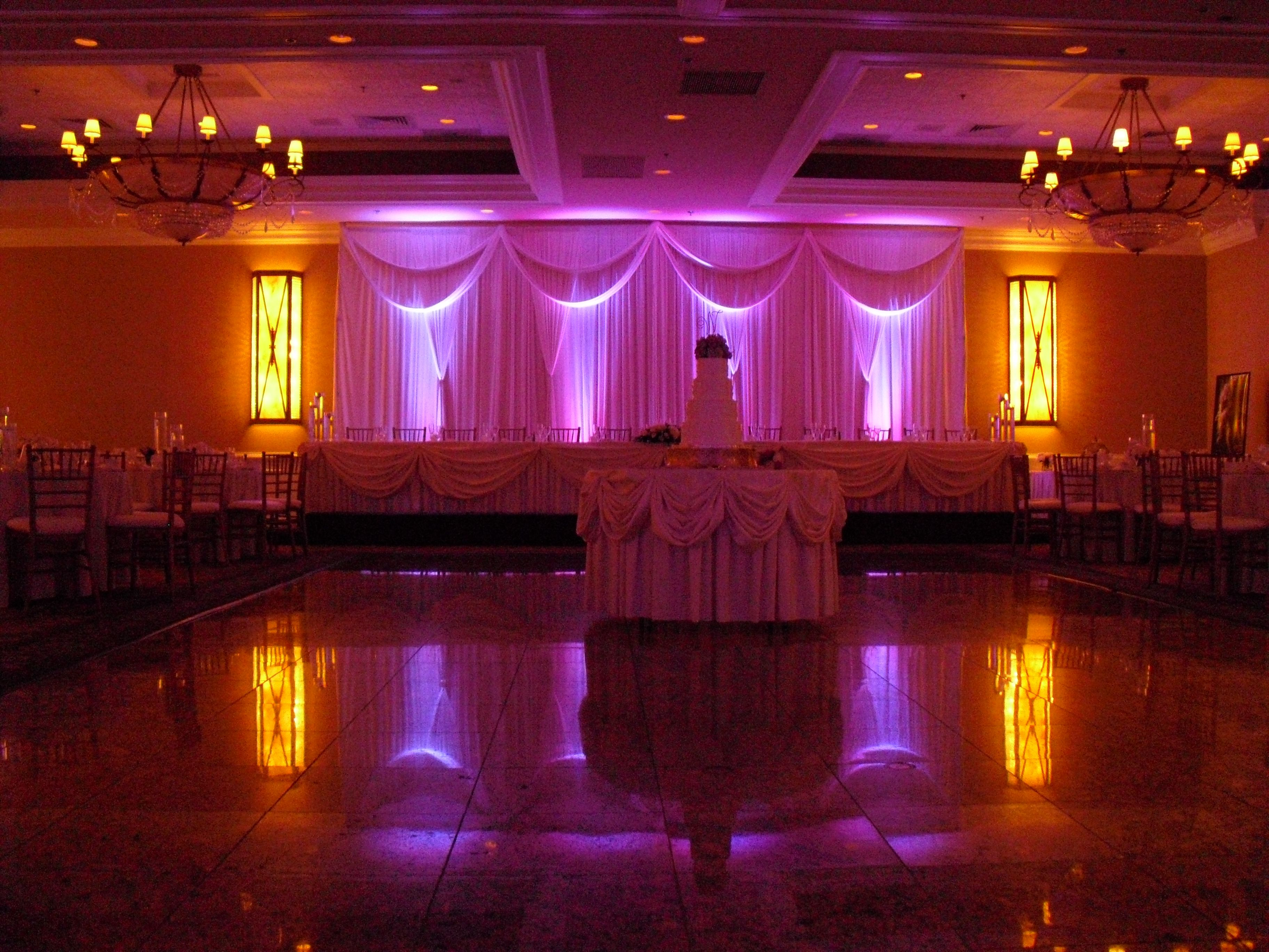 Wedding decor lighting at Concorde Banquets in Kildeer, IL ...