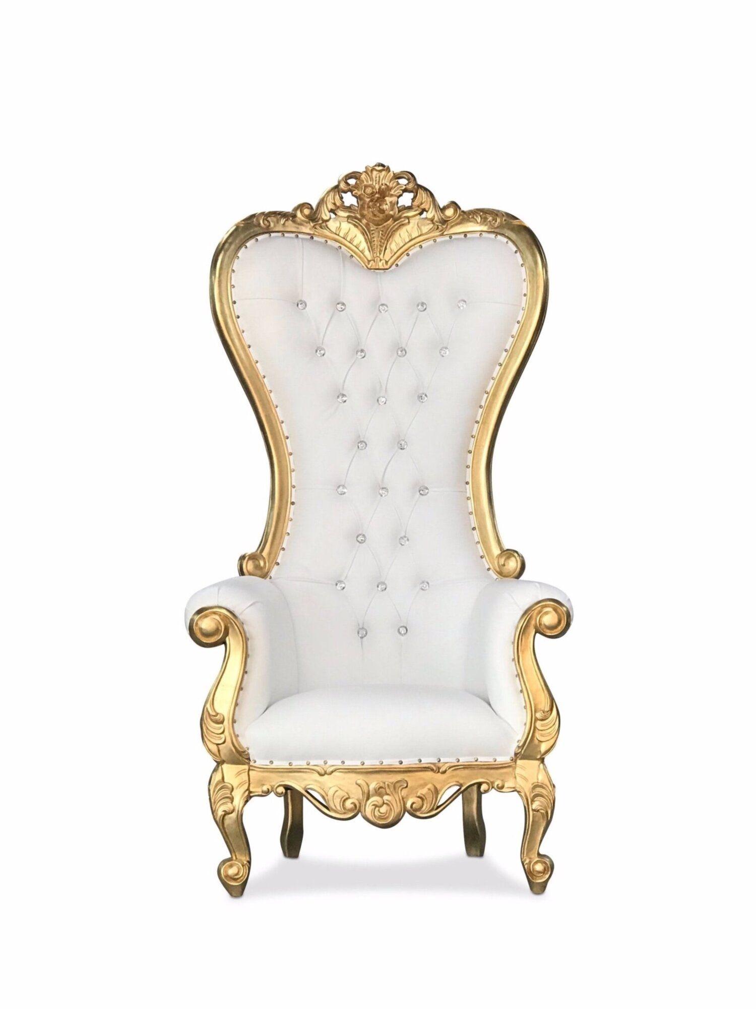72 melina throne chairs goldwhite chiseled