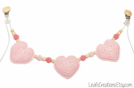 Stroller toy crochet Stroller chain crochet Pram by LeafsCreations