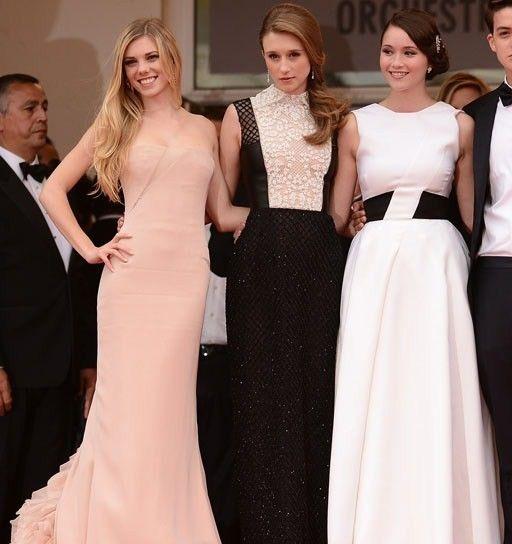 Claire Julien in Emilio Pucci, Taissa Fariga in Valentino, Katie Chang in Dior Cannes 2013