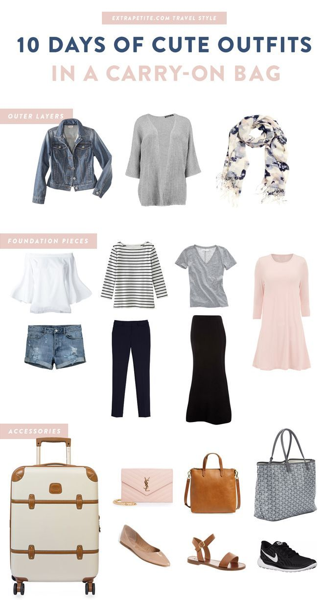 Best way to fold clothes for a trip - Travel Style How To Plan Cute Outfits For Vacation In A Carry On