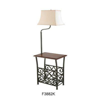 Floor Lamp With Table Attached Indoor Floor Lamps Floor Table