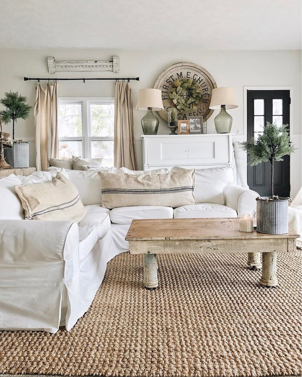 Inexpensive Cottage Style Living Room Furniture From Ikea: Lasting Farmhouse Living Room Furniture And Decor Ideas (8