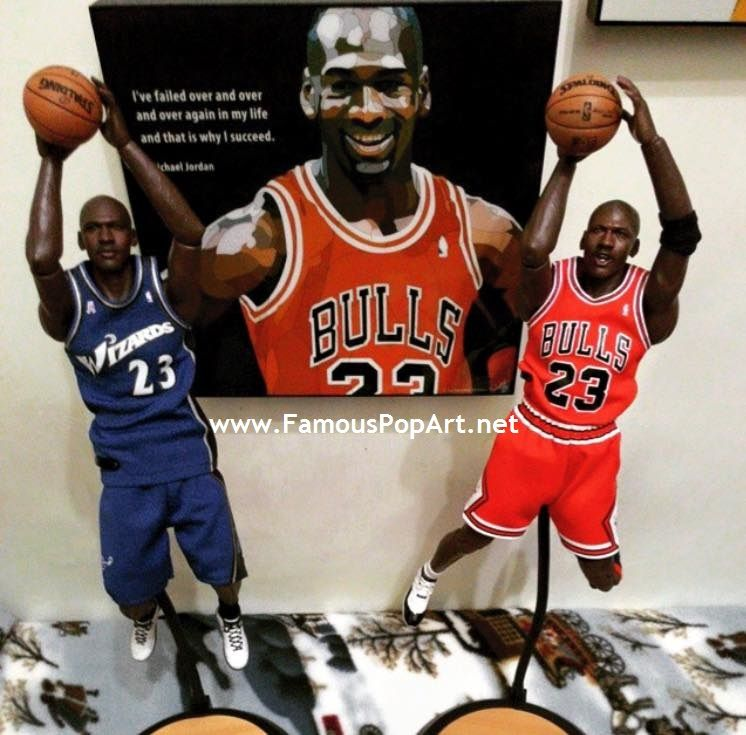 DECORATE your wall/shelf with the great MICHAEL JORDAN Pop Art decoration (frame included), 10 x 10inch. The material is acrylic printed with glossy finish. We could shipped the pop art worldwide.